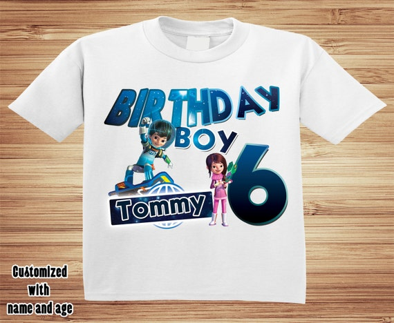 Miles from Tomorrowland Birthday T Shirt Personalized