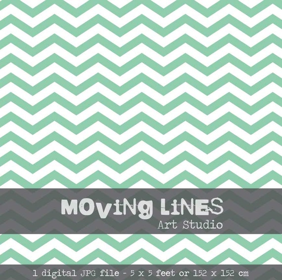 Chevron Wallpaper Mint Background Blue Green by MovingLines