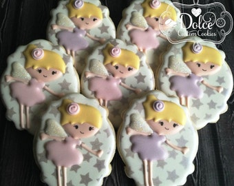 Fairy Pixie Angel Birthday Cookies