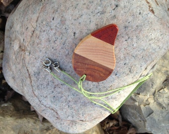 Hand Carved, Reclaimed Exotic Wood, Pendant Necklace ***FREE SHIPPING***