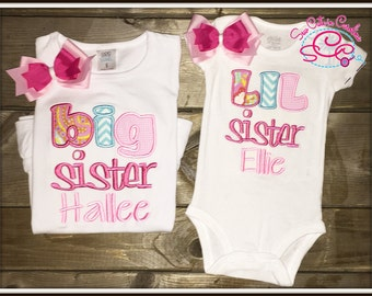 Big/Little Coordinating Sister Shirts and Hairbows