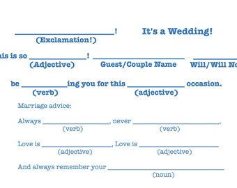 "Mad-Lib R.S.V.P ""It's a wedding!"" Template"