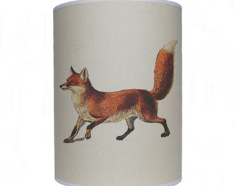 Fox shade/ lamp shade/ ceiling shade/ lighting/ drum lampshade