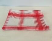 Vintage Red Plaid Kitchen Towel