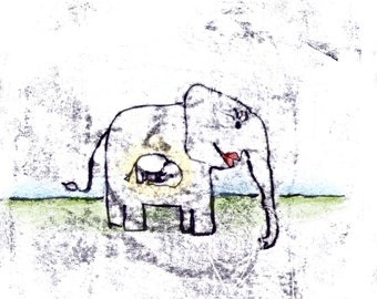 "Greeting card ""Baby elephant"" with envelope"