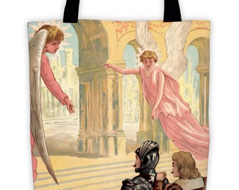 Christian and Hope enter the Celestial City tote bag
