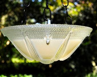 Hanging bird bath - glass bird feeder