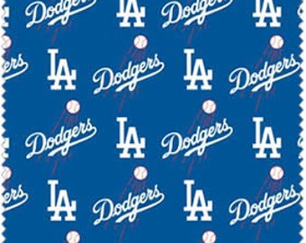 """LA Dodgers Cotton Fabric 60"""" wide - Fabric by the yard"""