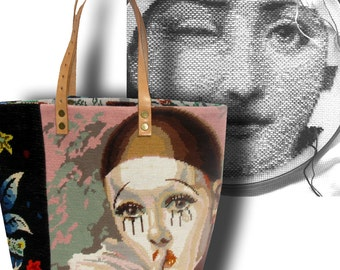 Le Fraisine, A French Tapestry Purse, Canvas Handbag