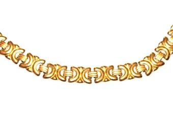 Vintage Avon Link Necklace 1980s Gold Tone Chain Link