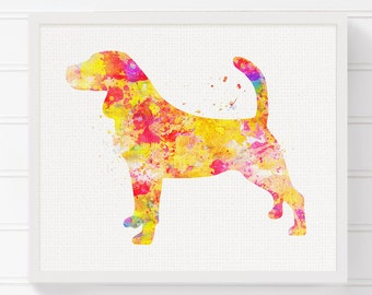 Watercolor Beagle, Beagle Print, Beagle Art, Beagle Painting, Dog Painting, Dog Art Print, Watercolor Dog, Dog Wall Art, Dog Lover Gift