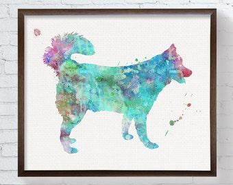 Siberian Husky Painting - Watercolor Husky - Husky Art Print - Husky Poster - Husky Wall Art - Husky Wall Decor, Nursery Wall Decor, Animal