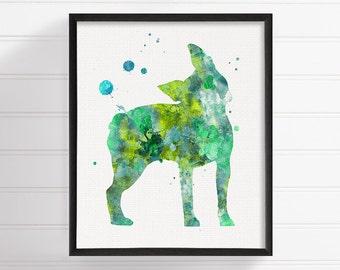 Boston Terrier Watercolor, Boston Terrier Art, Boston Terrier Print, Boston Terrier Poster, Dog Wall Art, Dog Lover Gift, Kids Room Decor