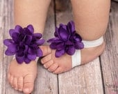 Purple baby shoes- barefoot sandals- unique sandals- baby accessories