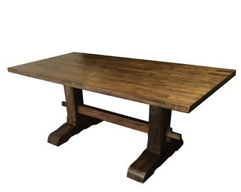 farmhouse trestle table diy kit made to order