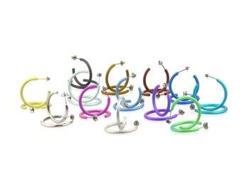 Medium Titanium Hoop Earrings