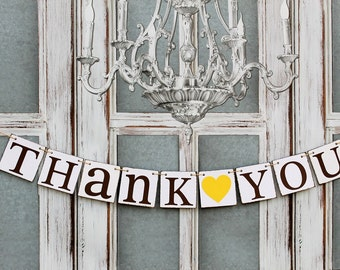 THANK YOU SIGNS - thank You Banners - Thank you cards - Rustic Wedding signs Photo booth