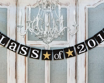 GRADUATION Party Signs - CLASS OF 2018 - Graduation Photo Banner - Personalized School Colors