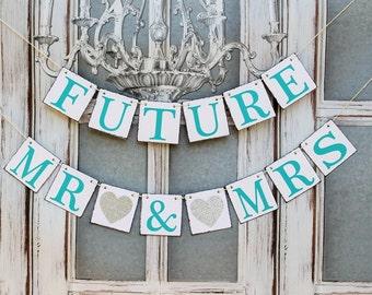 Wedding Banners-Rustic Wedding Signs-FUTURE MR & MRS Engaged signs-Wedding shower signs-Banners Rustic Wedding photo prop