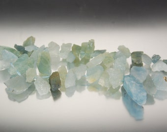 "Aquamarine Raw Nuggets, 6""/25 Pcs, Hammer Faceted, Side Drilled, 10-28.5MM, Gorgeous, Aquararine Beads, Aquamarine Focals, Aquamarine Drops"