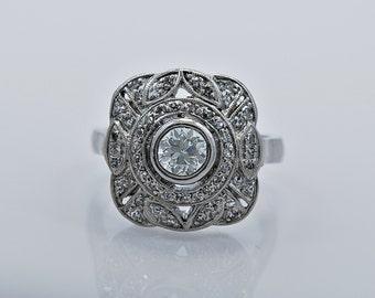 Platinum & .60ct. Diamond Art Deco Engagement/Fashion Ring - J35084
