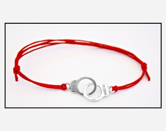 Red Fifty Shades of Grey Adjustable Handcuff Bracelet