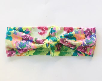 Knotted Turban Headband - Floral