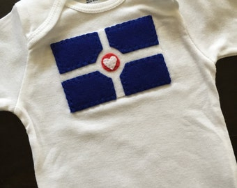 """Filled with """"Indy Love"""" Infant Onesie"""