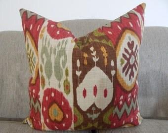 Ikat.18x18,19x19, pillow cover,throw pillow, decorative pillow, same fabric on both sides