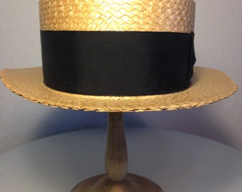 FREE  SHIPPING   1920 Straw Man's Hat