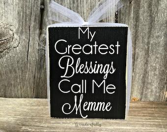 Personalized Grandma Gift, Grandma to Be, My Greatest Blessings Call Me Mimi, Nana, Gigi, etc  wood sign