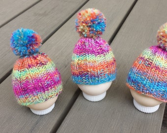 Colourful egg cosy