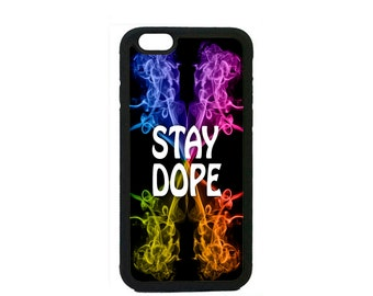 Cool Stay Dope Swag Supreme Color Smoke Case Cover for iPhone 4s 5 5s 5c 6 6s 6 Plus Black  iPod Touch case