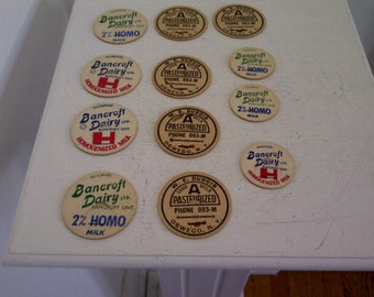 Vintage Dairy Pog Collection Bancroft Dairy and W.E. Dubois Oswego NY