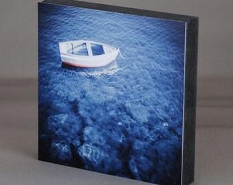 Mark square - boat blue