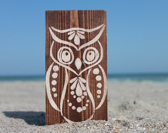 Owl Wooden Sign