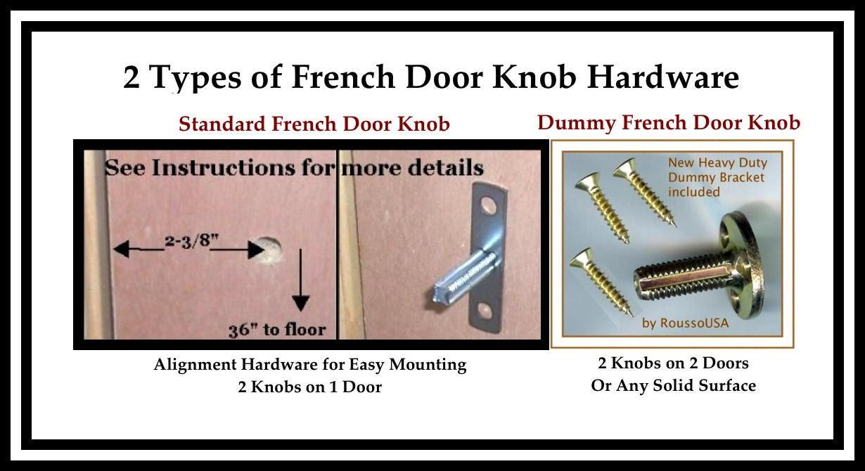 Crystal door knobs on french doors -  129 95