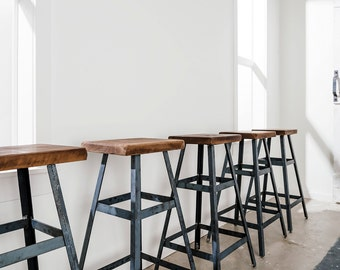 Modern Metal Barstool Industrial Stool Bar Stool Shop Stool Metal Stool