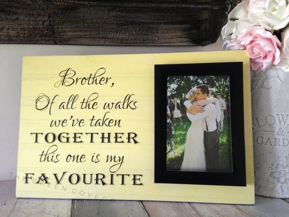 Special Wedding Gift For Brother : Brother Of The Bride Wedding GiftBrother Of The Bride Personalized ...