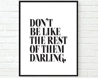 stay weird quote inspirational tumblr quote typographic print