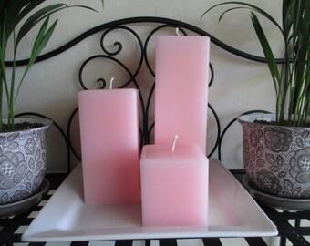 Square Pillar Candle Set