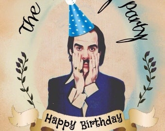 Nick Cave Birthday Card