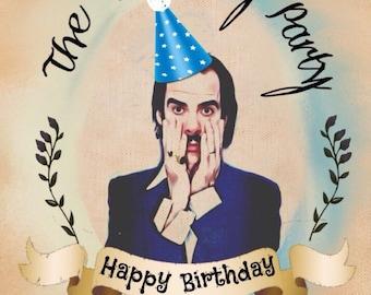 Nick Cave Birthday Card
