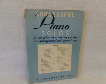 "G. Schirmer, New York Circa 1956 - ""Successful Piano Solos"""