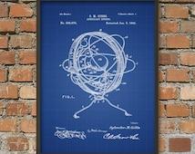 Armillary Sphere Patent Print - Armillary Sphere Poster - Spherical Astrolabe - Armilla - Armil - Celestial Astronomy - Science Poster