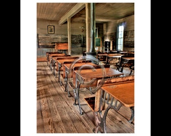 One Room School House, High Dynamic Range (HDR) Digital Image 7x9 image on 11x14 archival paper