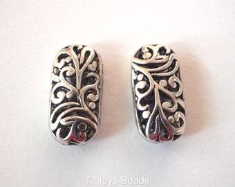 REDUCED 2 x Tibetan Oblong Beads