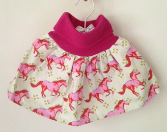 Pink pony twirly skirt