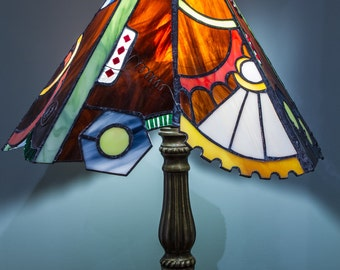 Stained glass Lampshade Steampunk