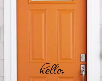 vinyl hello goodbye door decal, vinyl door decal, vinyl sticker, decal for the home